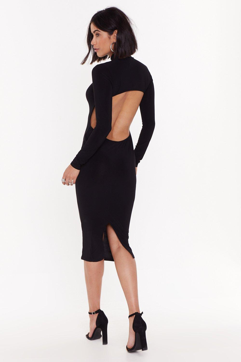 fd64384f77bb Opening Up for Love High-Neck Midi Dress | Shop Clothes at Nasty Gal!
