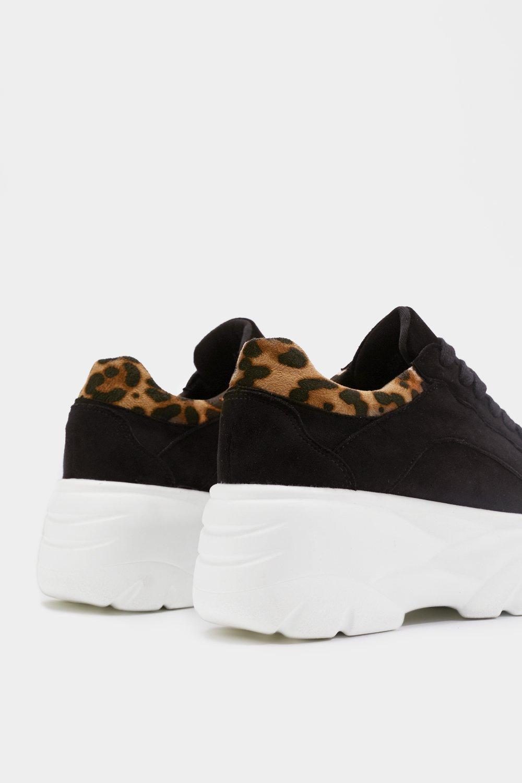 b7ce70c6d4c Faux Suede Leopard Platform Sneakers