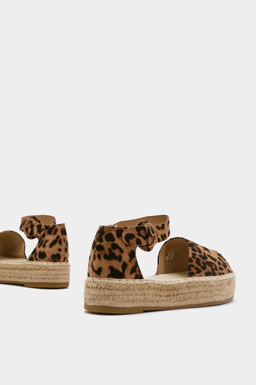 8e668062a Womens Brown Leopard Print Flatform Open Toe Espadrilles