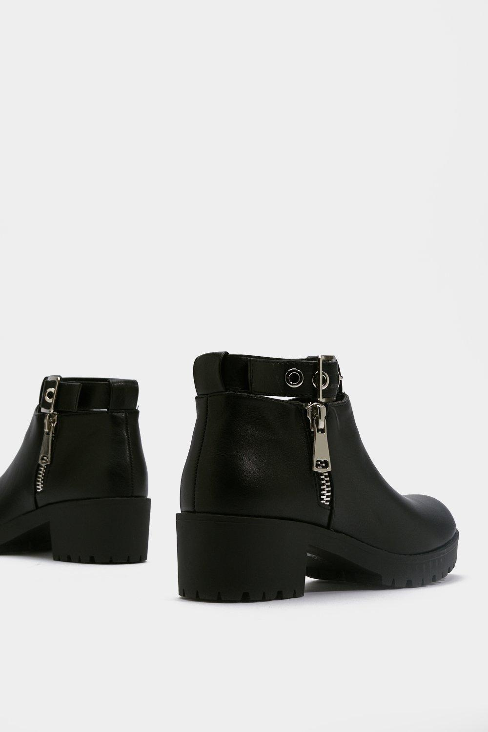 ad39903964c Cut Out Zip Ankle Boots | Shop Clothes at Nasty Gal!