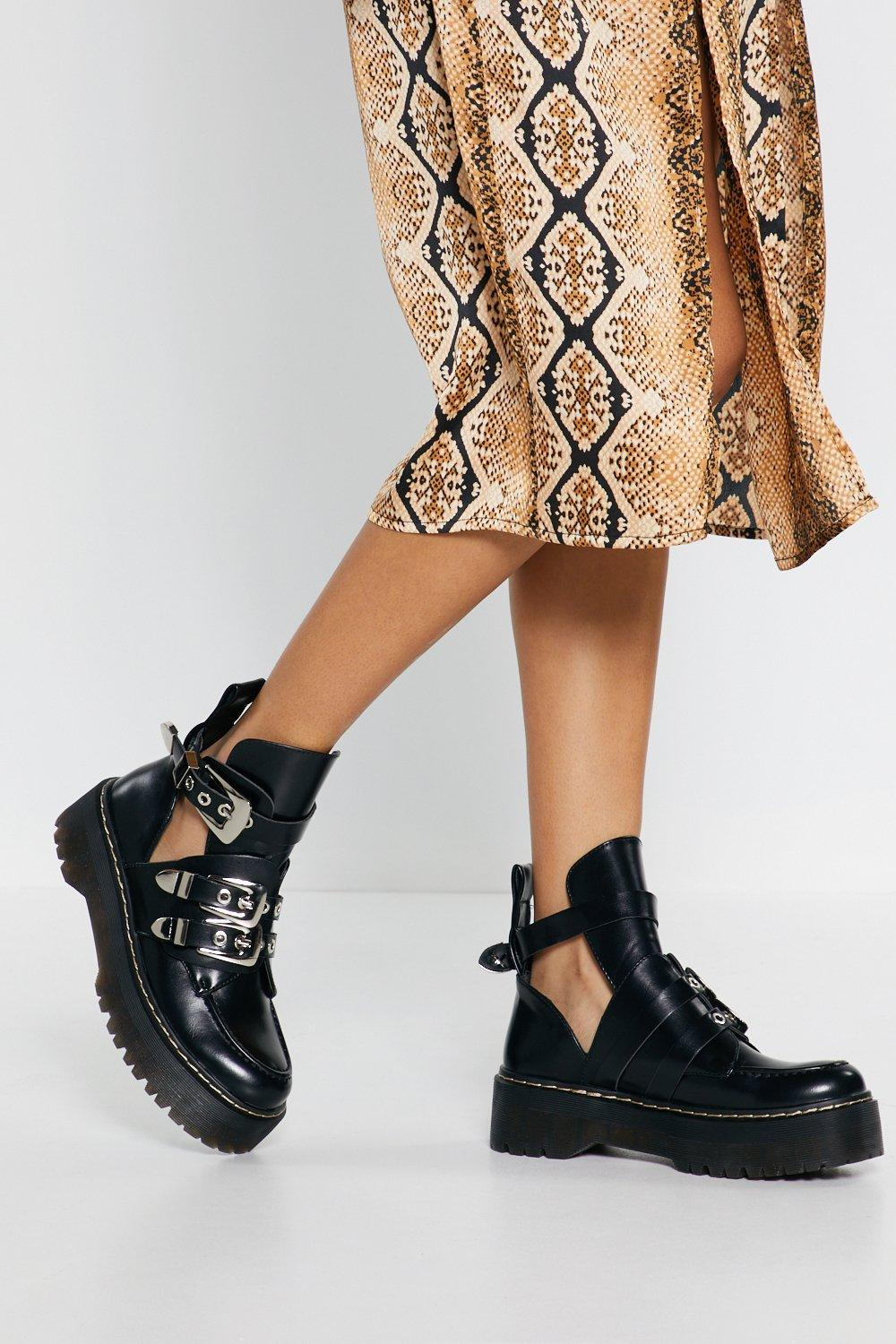 8eda706dd129e Flatform Cut Out Ankle Boots | Shop Clothes at Nasty Gal!