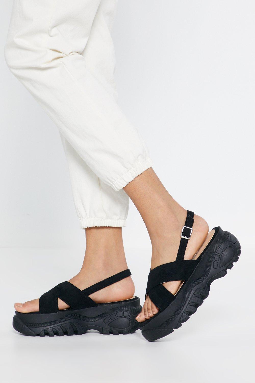 a3a948ddd518 Cross Strap Platform Sandals