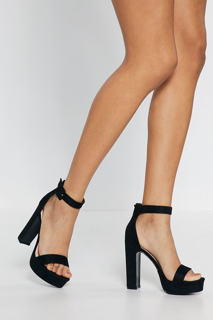 Get Moving Faux Suede Platform Sandals | Nasty Gal