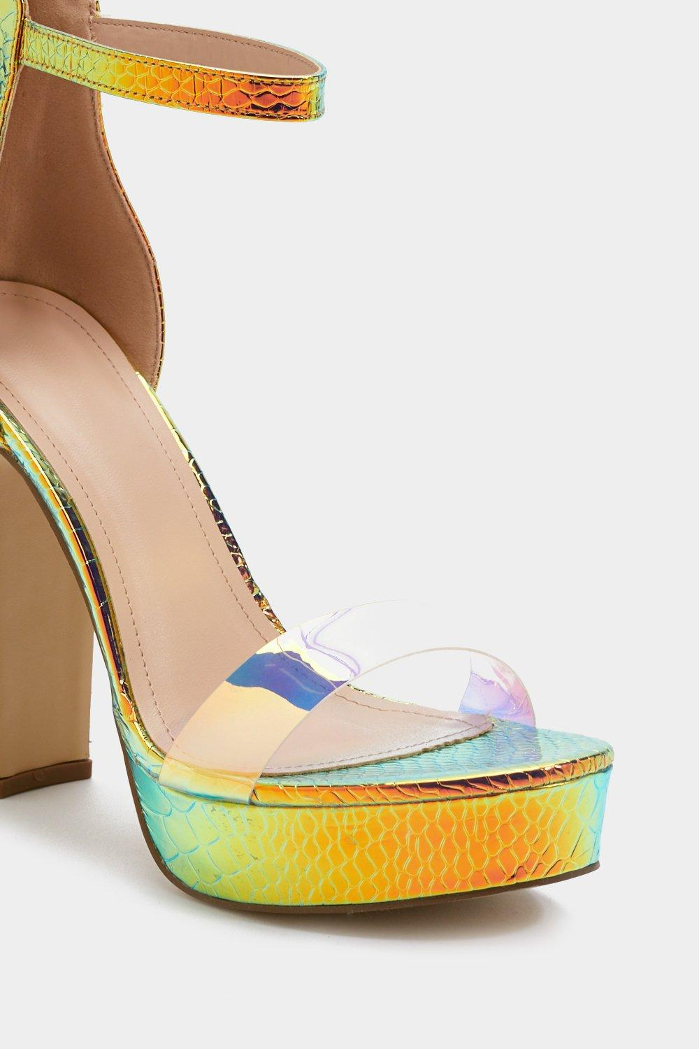 89bb50d688 Faux Croc Iridescent Platform Heels | Shop Clothes at Nasty Gal!
