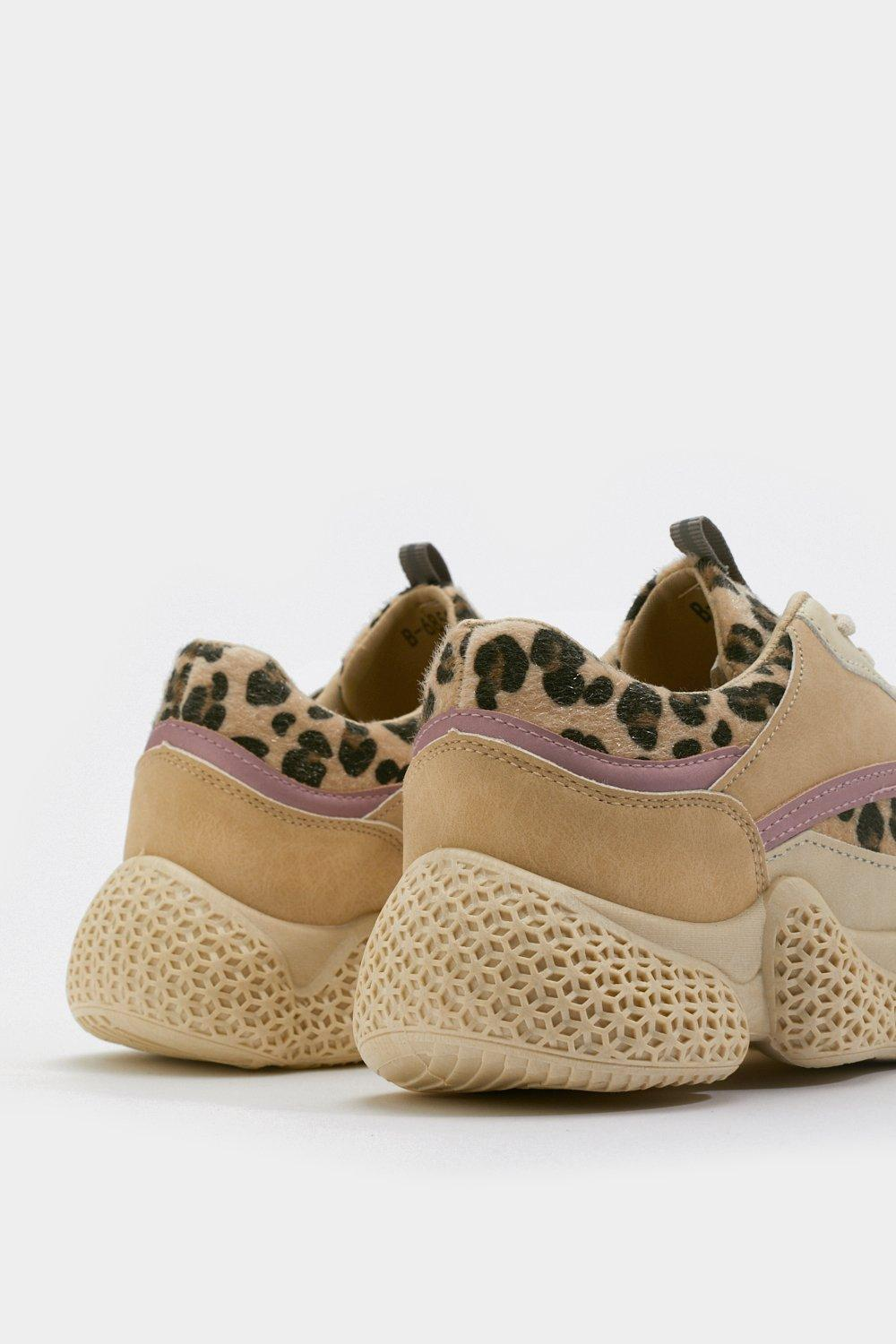 29edacf76 Pick Up the Pace Leopard Chunky Sneakers | Shop Clothes at Nasty Gal!