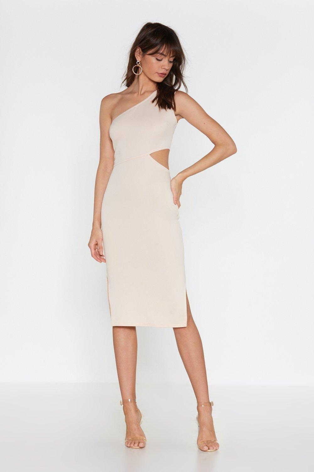 36145c3f9334 Cut-Out With the Old One Shoulder Midi Dress | Shop Clothes at Nasty ...