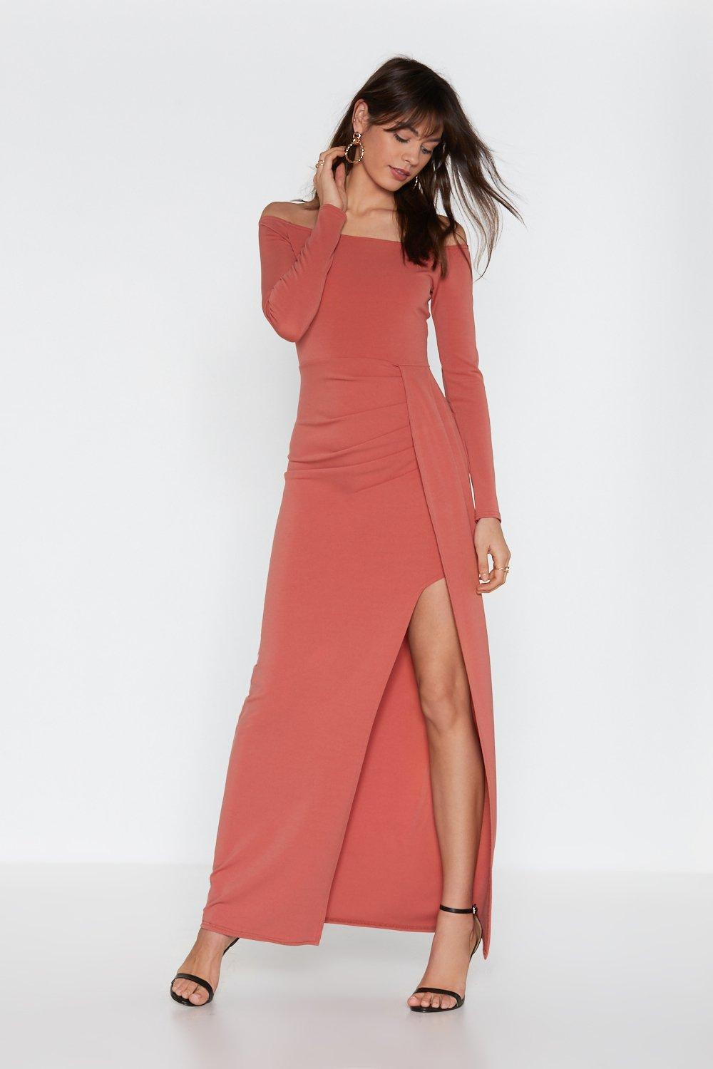 8ca0546269d Hover to zoom · Womens Rose At Length Wrap Maxi Dress