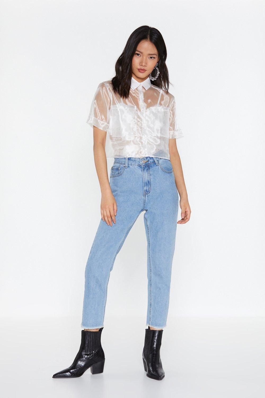 6261734c Sheer Goes Nothing Organza Cropped Shirt | Shop Clothes at Nasty Gal!