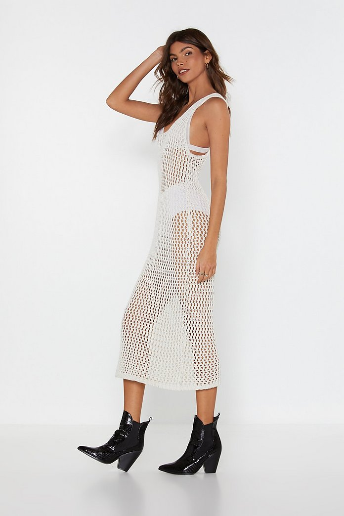 This Hole World Crochet Midi Dress | Shop Clothes at Nasty Gal!