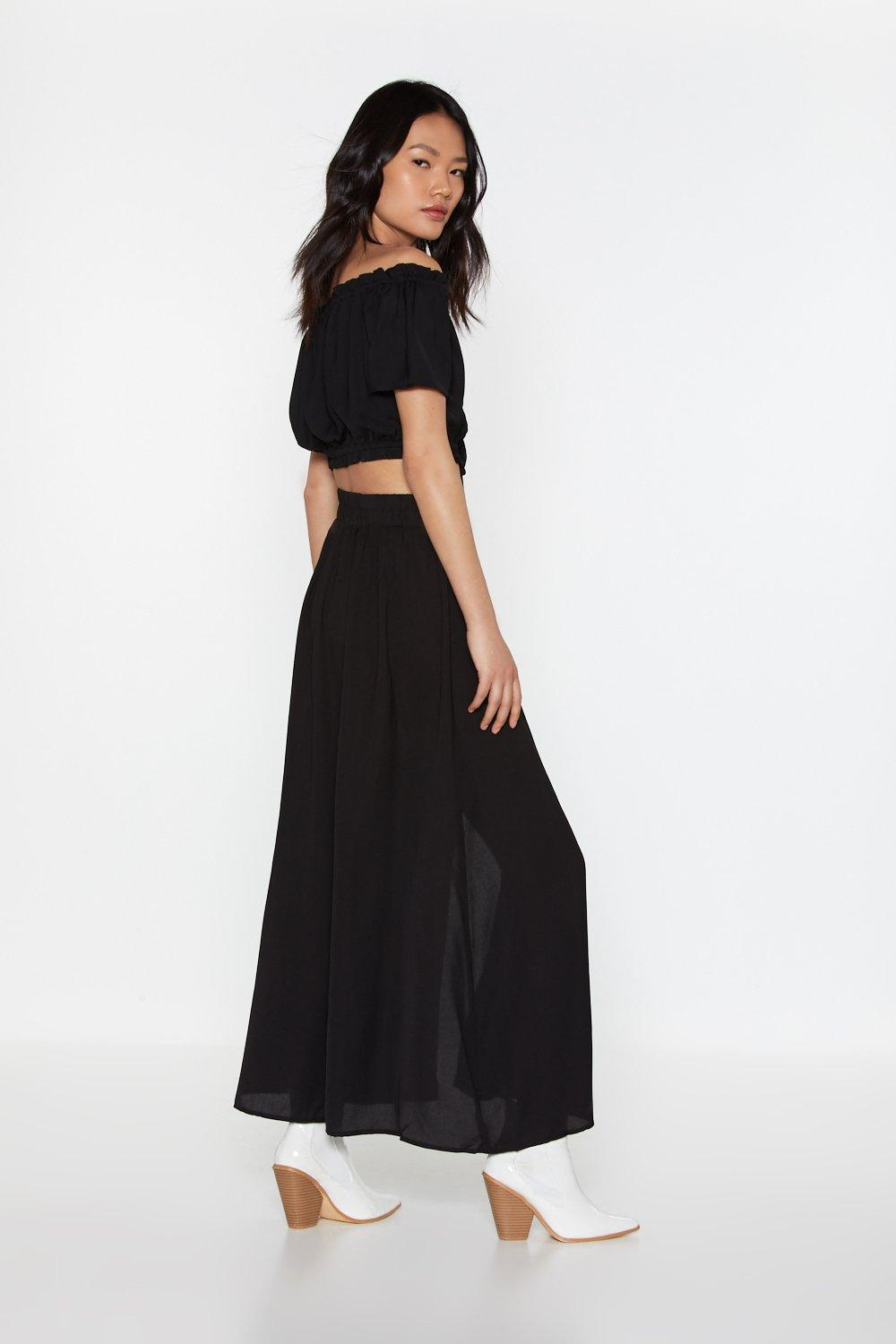53d0ef6a47 Outfit Complete Off-the-Shoulder and Midi Skirt Set   Shop Clothes ...