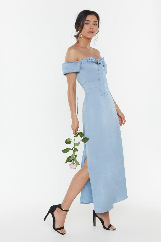 54272a78c744 Don't Catch the Bouquet Off-the-Shoulder Midi Dress | Shop Clothes at ...