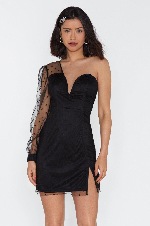 c564bb823a28 Star Mesh One Shoulder Mini Dress | Shop Clothes at Nasty Gal!