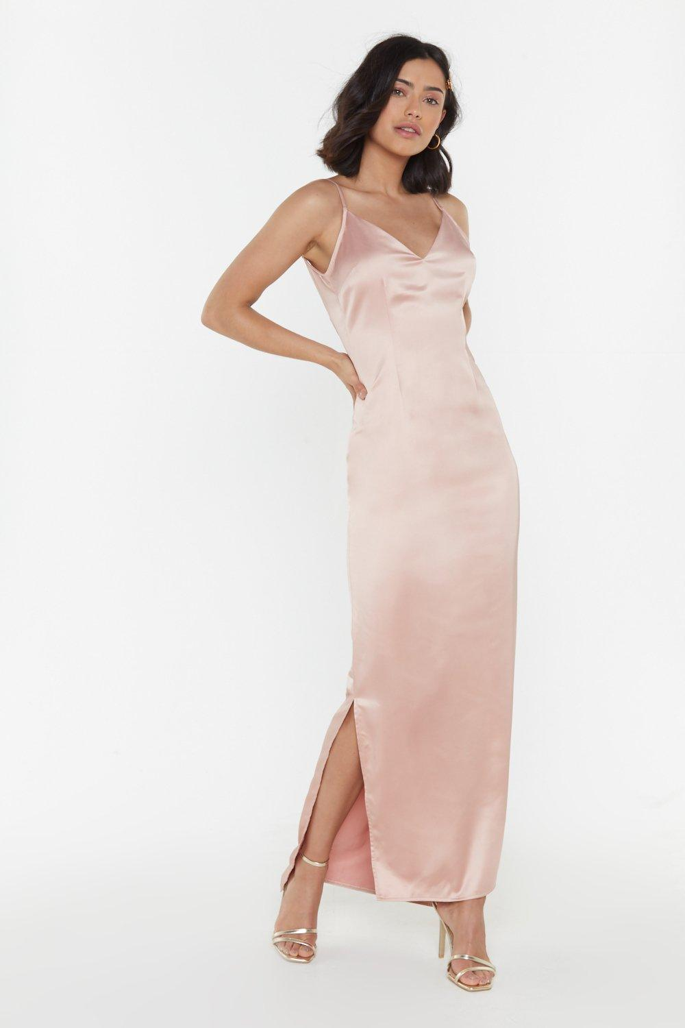 ab6ec4f5c0b Top Table Material Satin Maxi Dress