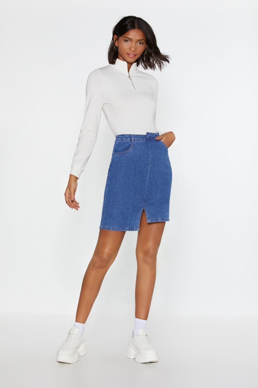 c15d7600937c Mind If I Cut In Denim Mini Skirt | Shop Clothes at Nasty Gal!