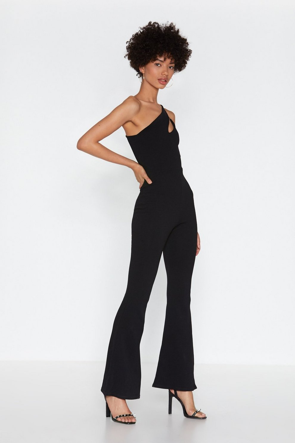 edf0c21fff4d7 The Ins and Cut-Outs One Shoulder Jumpsuit