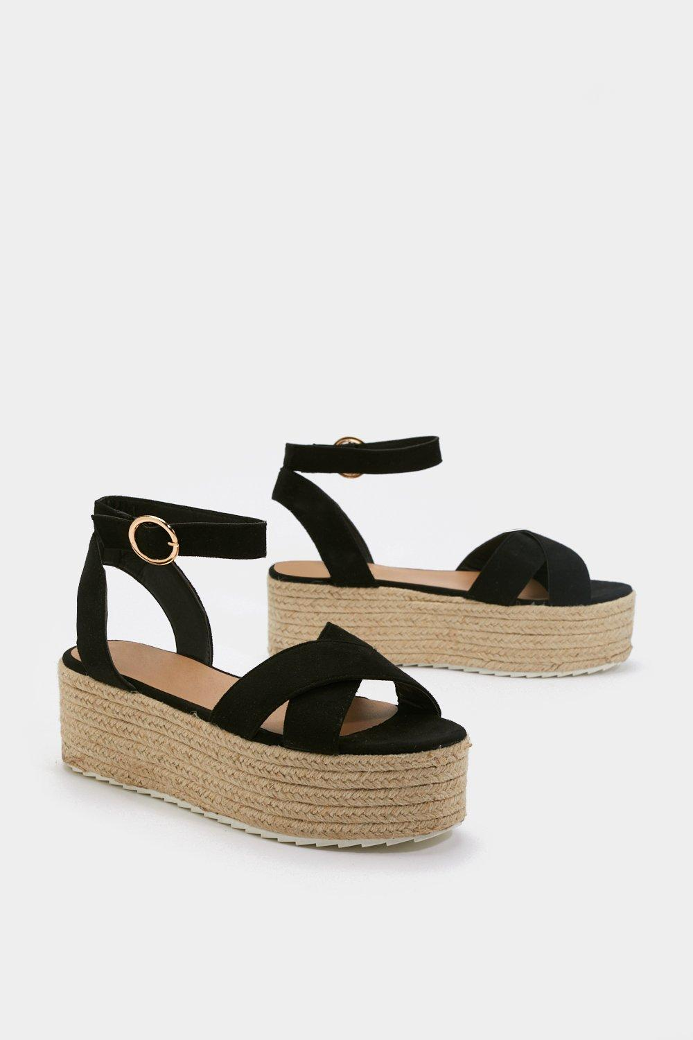 1167909d4ca Weave Been There Faux Suede Platform Sandals | Shop Clothes at Nasty Gal!