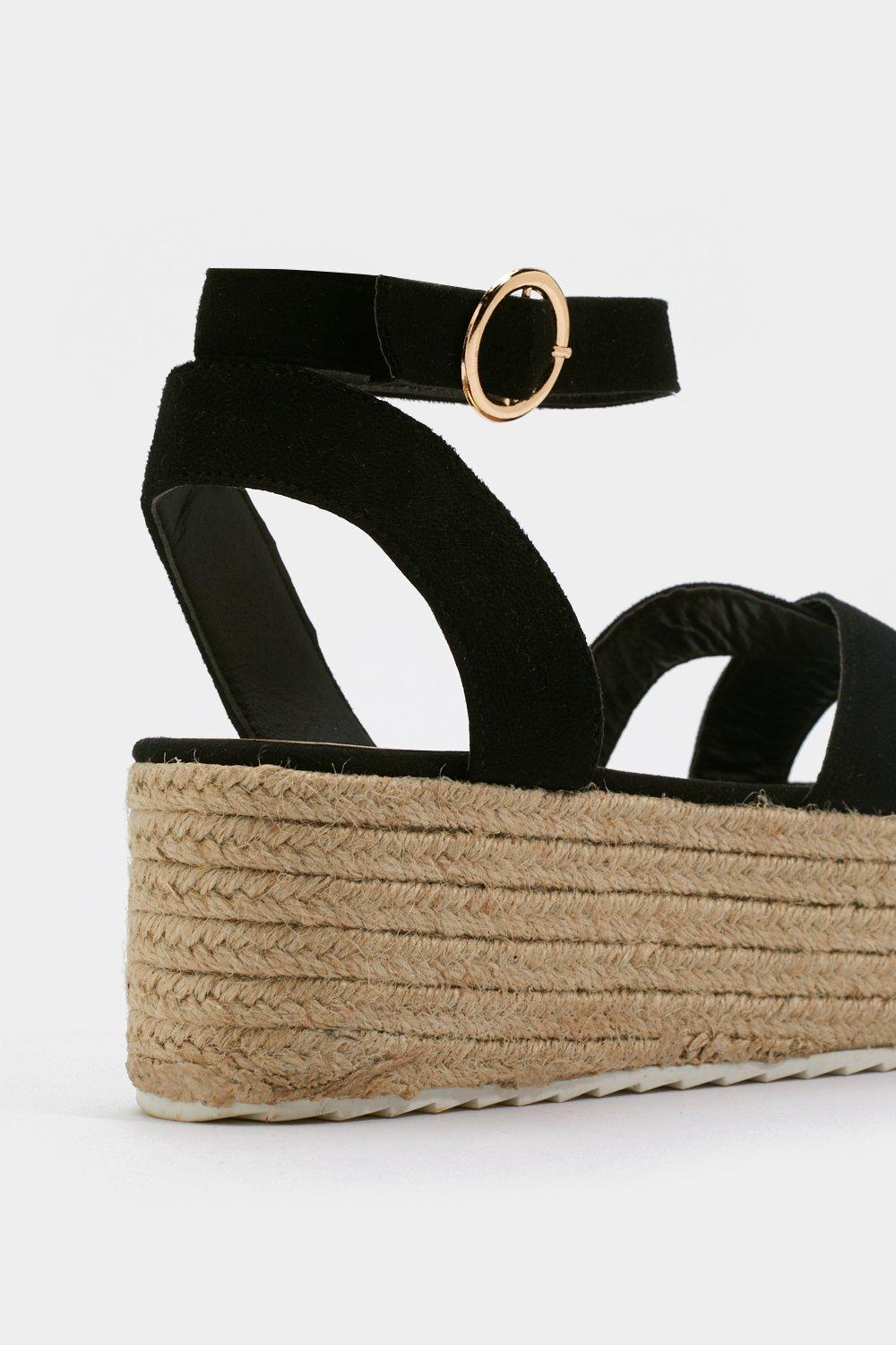 c45f371834c8 Weave Been There Faux Suede Platform Sandals