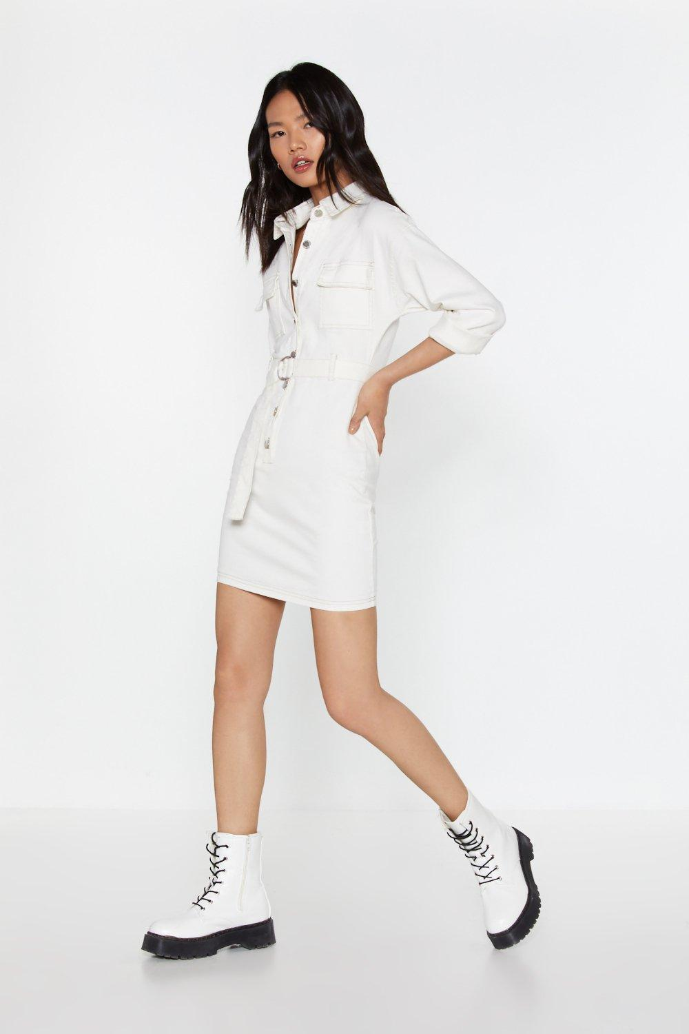 d20af9f7b3a Lay Button-Down the Law Denim Shirt Dress | Shop Clothes at Nasty Gal!