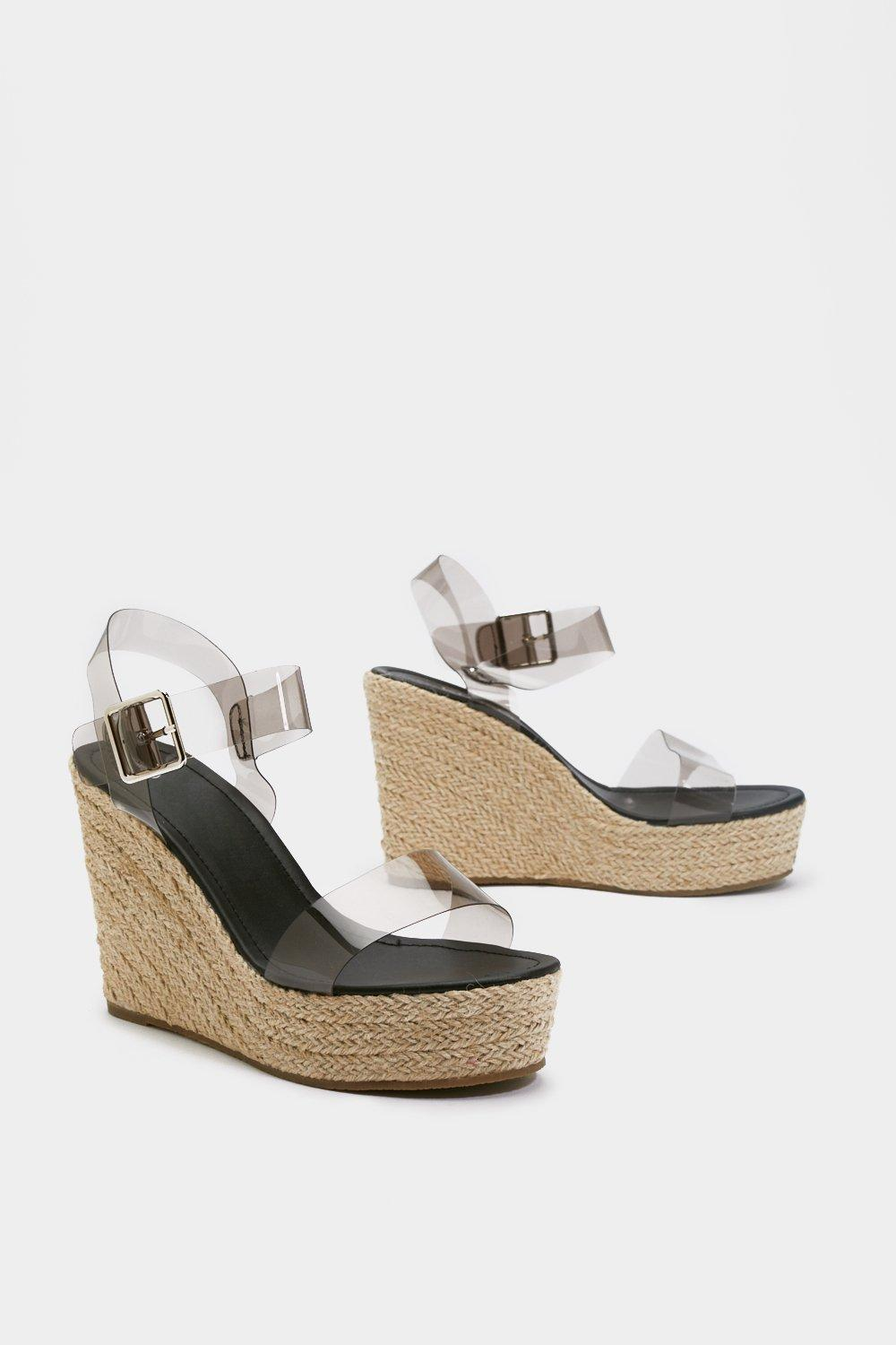 472fddb239072 In the Open Perspex Woven Wedges | Shop Clothes at Nasty Gal!
