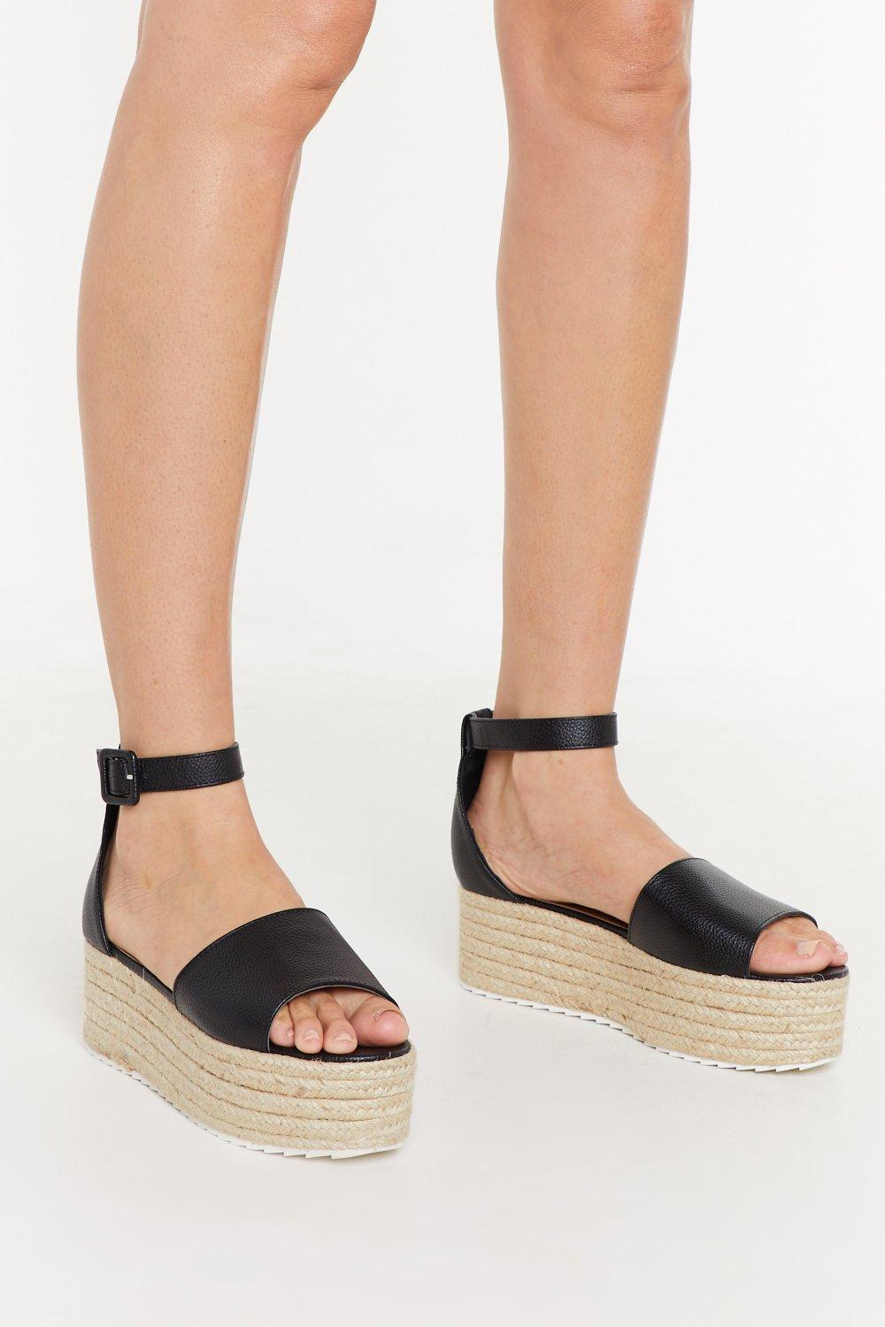 135aefdb On the Faux Leather Espadrille Platform Sandals   Shop Clothes at Nasty Gal!