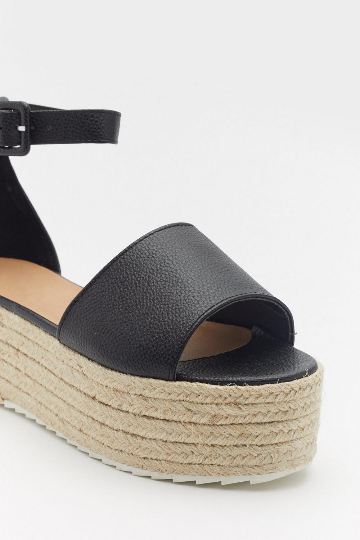 635446bb On the Faux Leather Espadrille Platform Sandals   Shop Clothes at ...