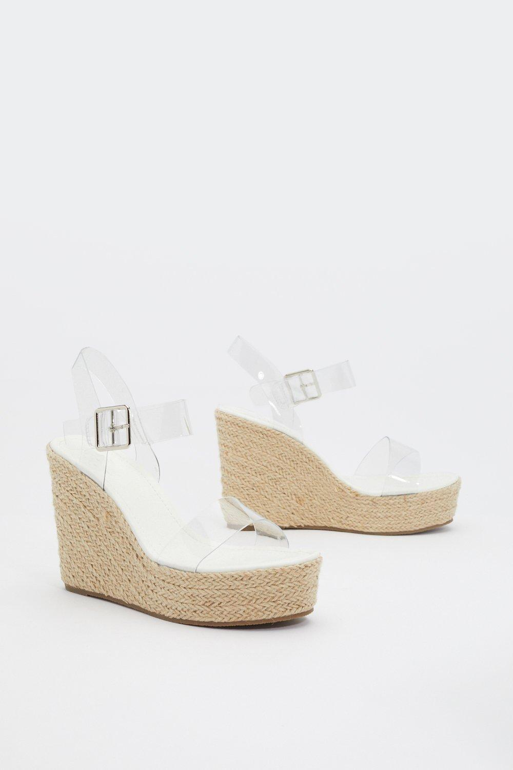 Perspex Two Part Wedges
