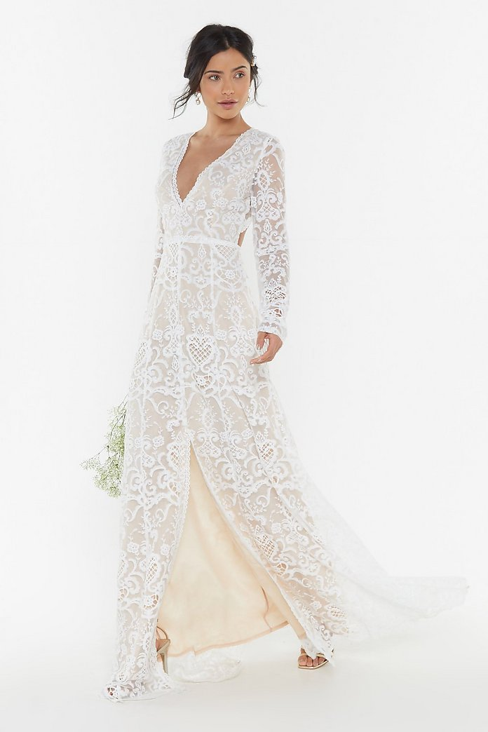 Bride It Out Bridal Crochet Dress Nasty Gal