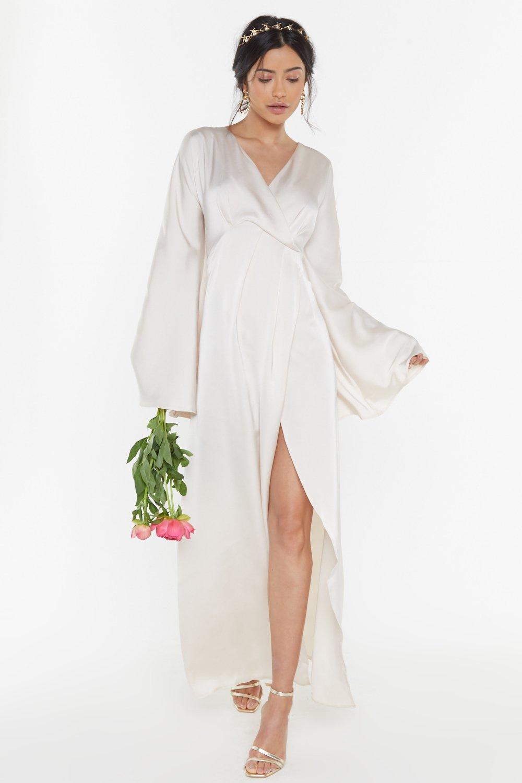 9d4b7cdb4d6 Aisle See You There Bridal Satin Maxi Dress