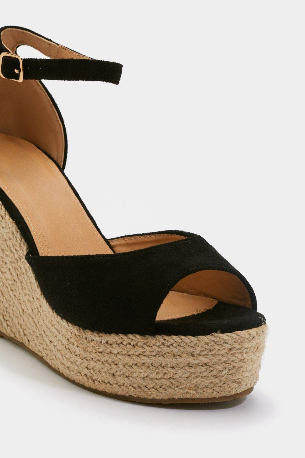 7c2326c39126 Sunny Afternoon Faux Suede Woven Wedges