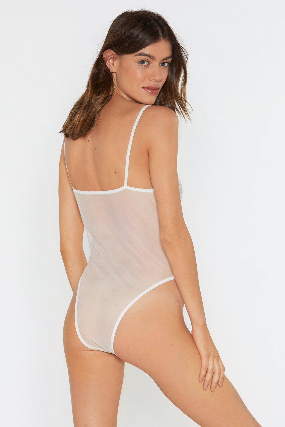 bf35b4460 Womens White Rave on Lace Bodysuit