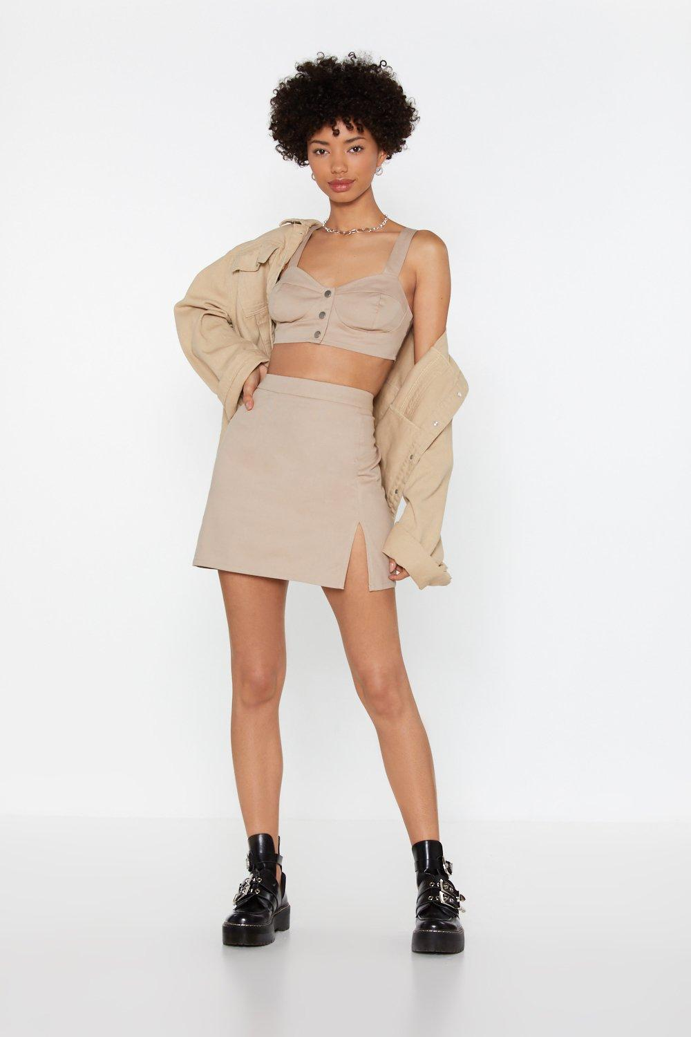 ced05216a Slit This One Out High-Waisted Mini Skirt | Shop Clothes at Nasty Gal!