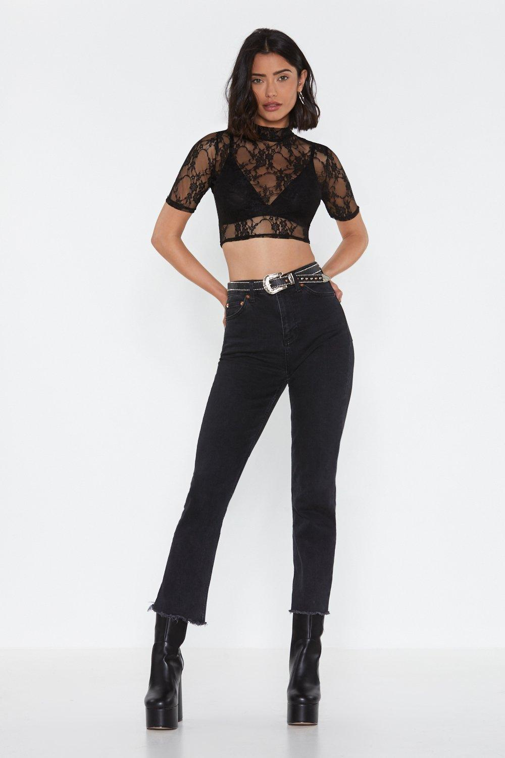 e3da22b93e371 Come to My P-lace High Neck Crop Top