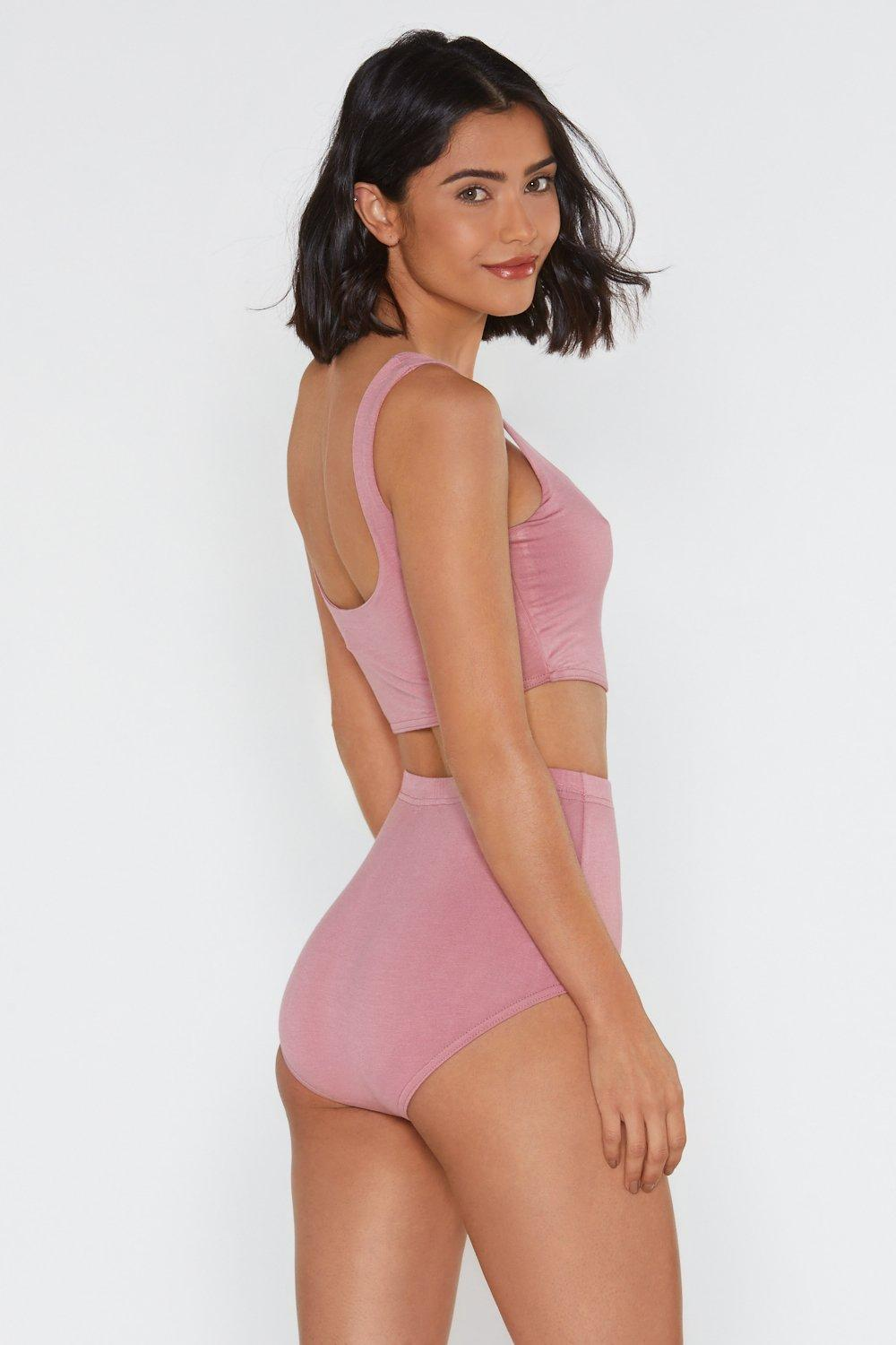 fd45ad8422 Never Two Part Bra Top and Panty Shorts Set. Hover to zoom