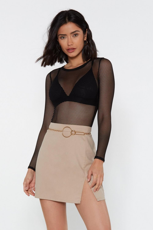 4edfccc308c Womens Black Don t Net Me Started Fishnet Bodysuit