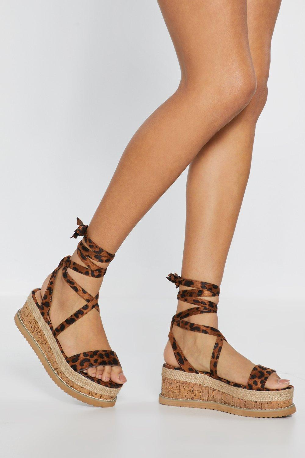 f903c49d6 Womens Brown Enough With the Cork Leopard Platform Sandals