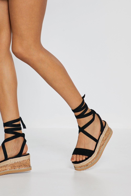 6c199c114901d Lace Up Flatform Sandals | Shop Clothes at Nasty Gal!