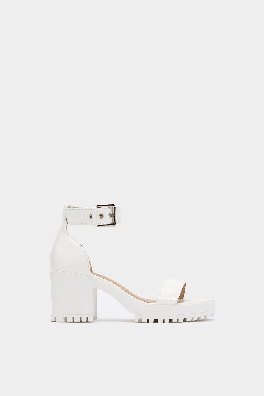 e035a3ffd05d Womens White Cleat It Fancy Faux Leather Sandals