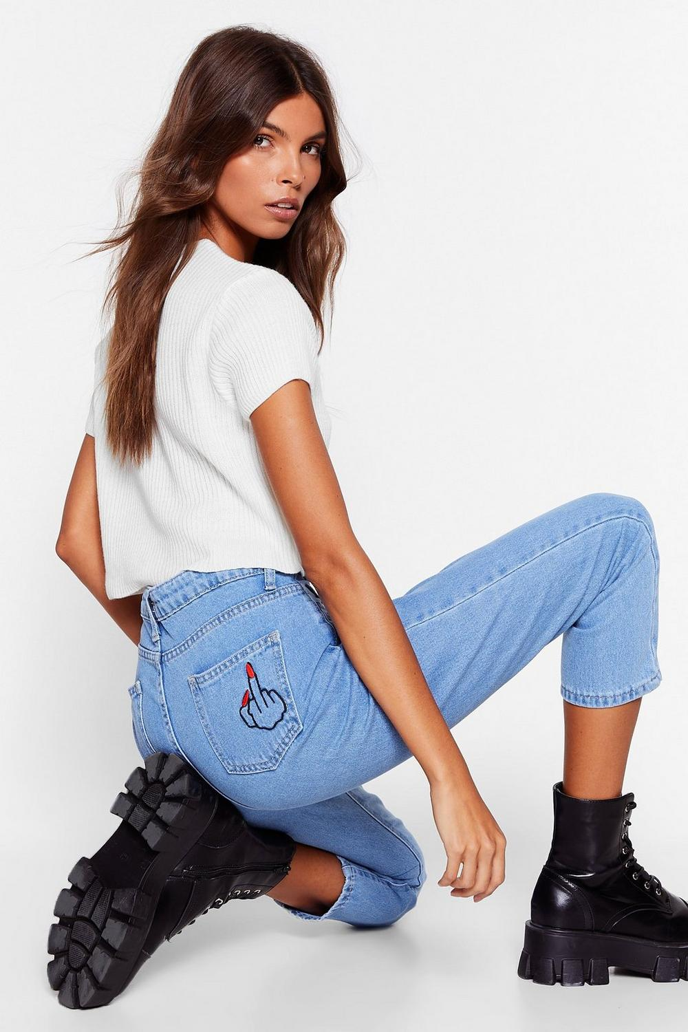 f8b5041dc9 Fuck You Embroidered Mom Jeans | Shop Clothes at Nasty Gal!