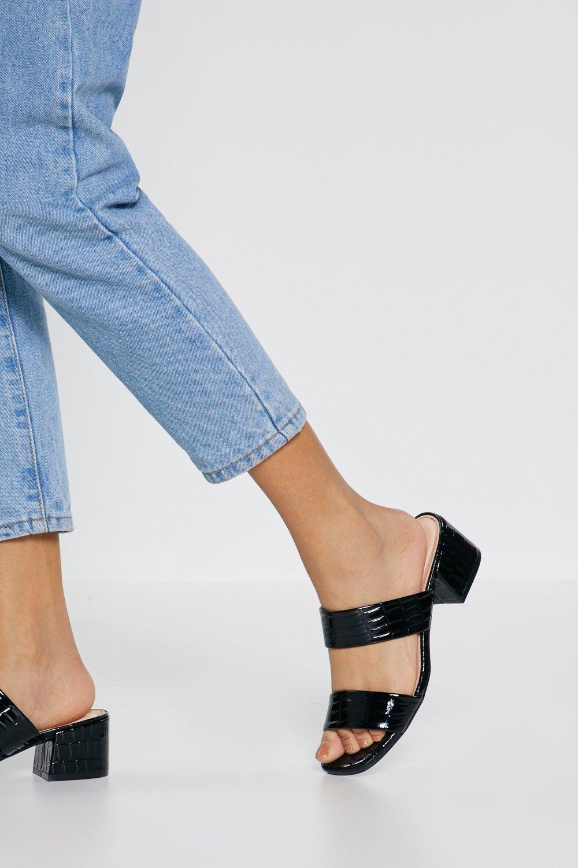 443b251da7 Croc Low Block Heel Sandals | Shop Clothes at Nasty Gal!