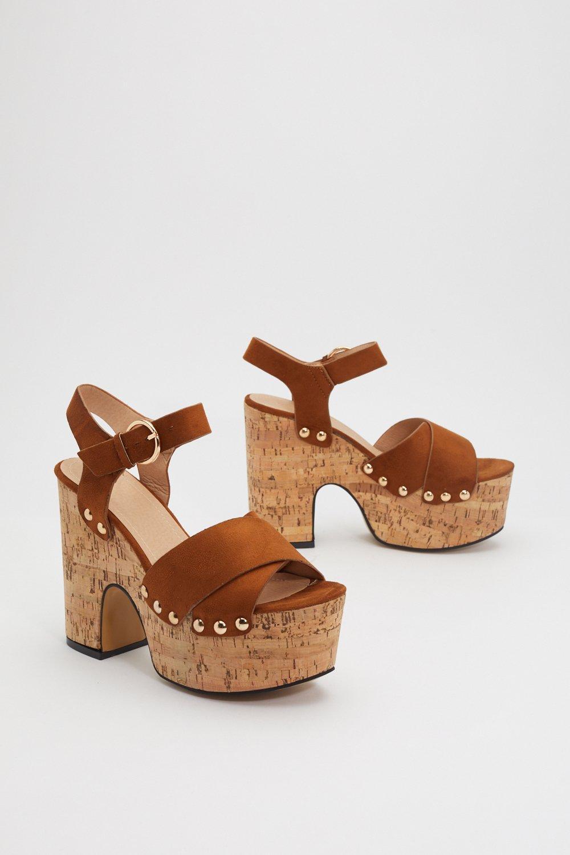7dcfb33b6 Make Yourself At Dome Cork Platform Sandals | Shop Clothes at Nasty Gal!