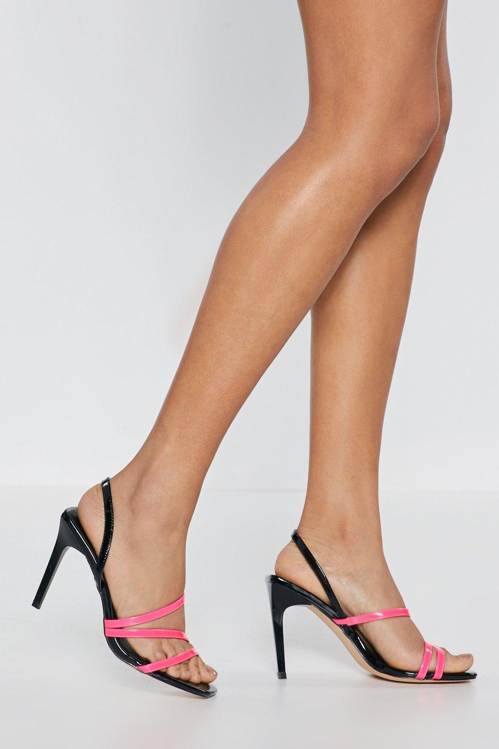 741532c66d2 Womens Pink A Neon Light Touch Strappy Heels