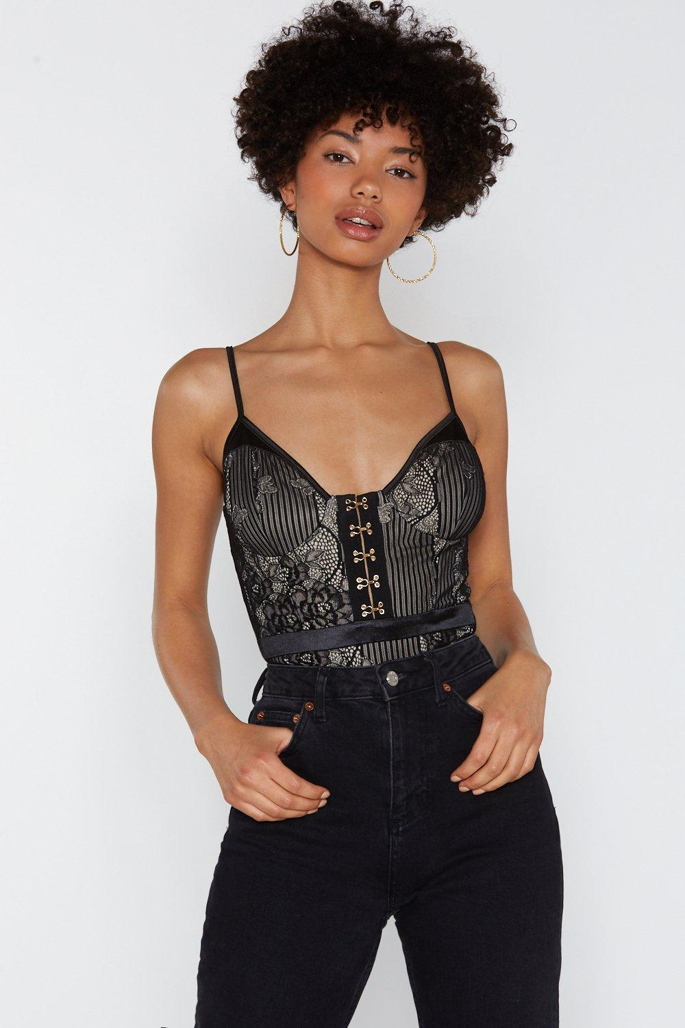 e4099a3d93754 Lace Yourself Cupped Bodysuit | Shop Clothes at Nasty Gal!