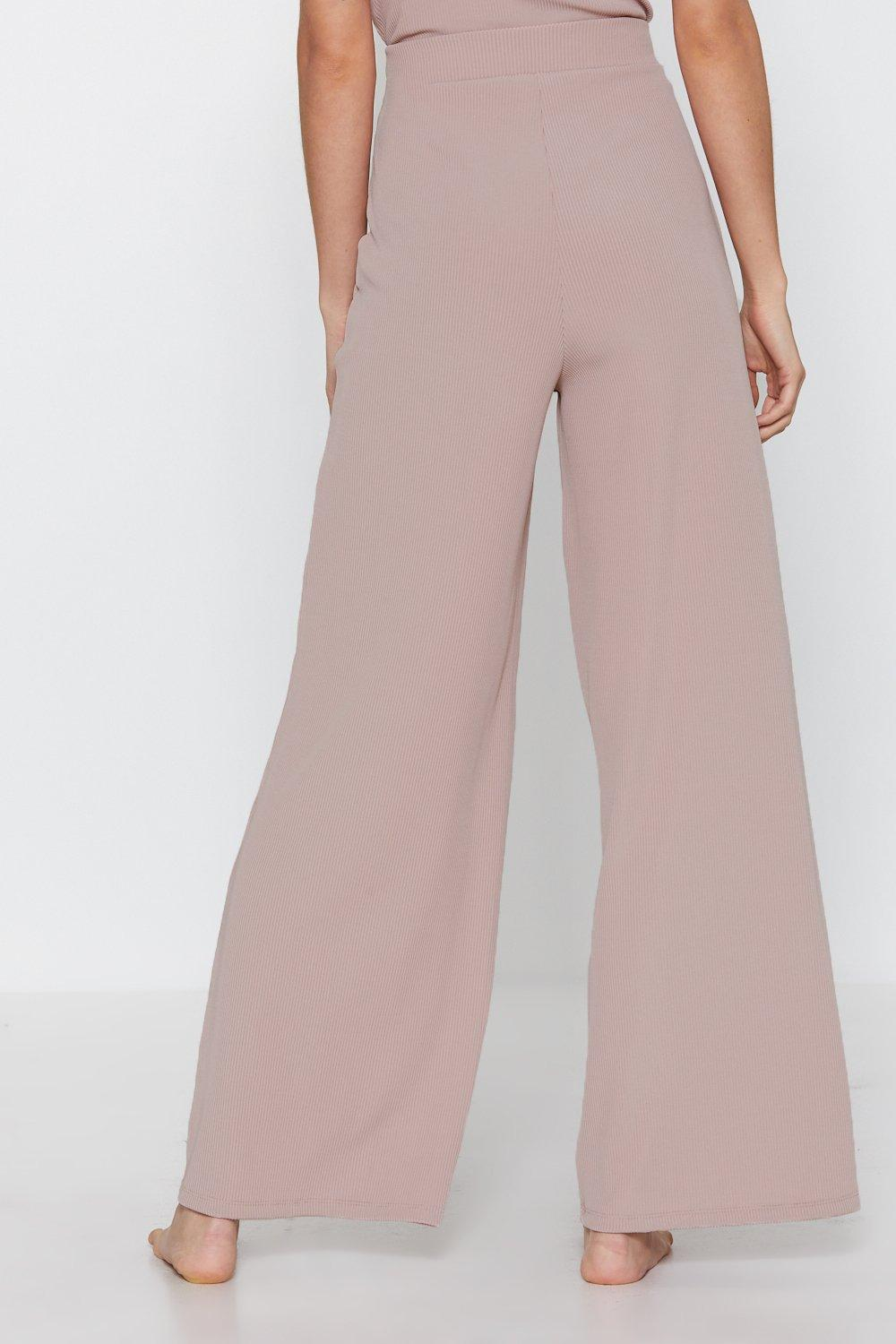 190c9ace343ef Ribbed Wide Leg Lounge Pants. Hover to zoom