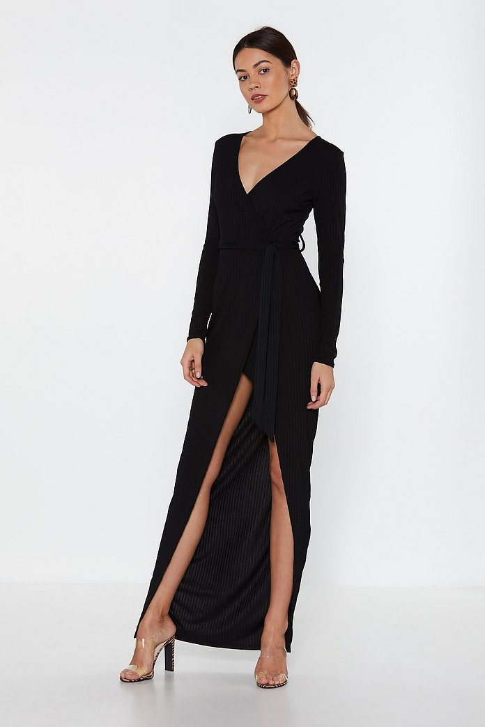 High Time Ribbed Maxi Dress | Nasty Gal