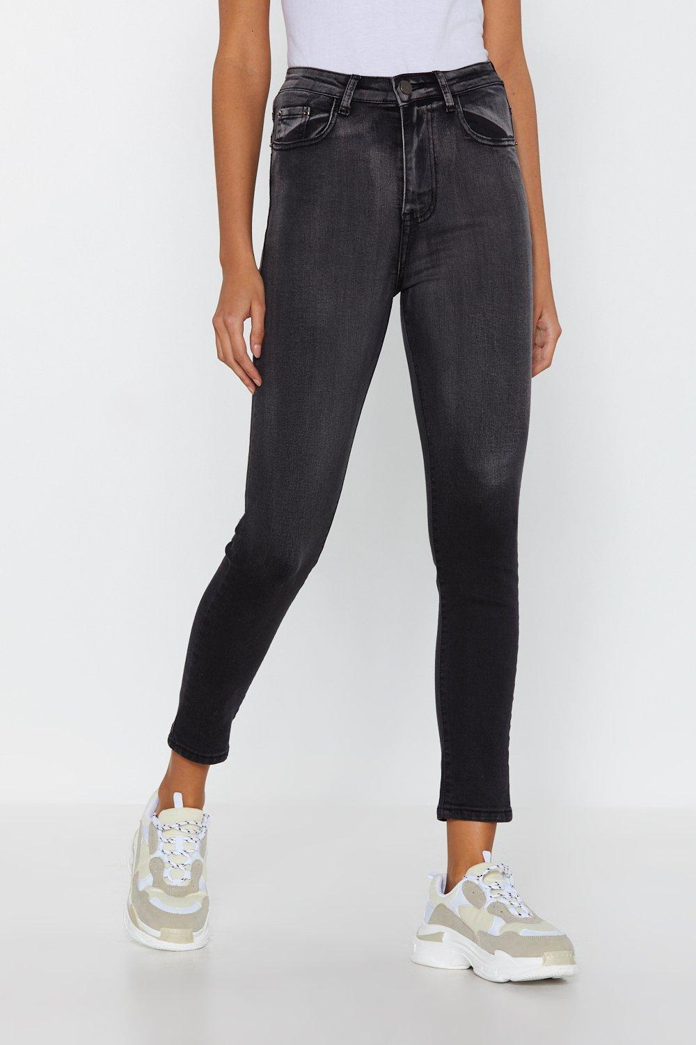 71ad66889e Womens Washed black Zip at Their Ankles Skinny Jeans. Hover to zoom