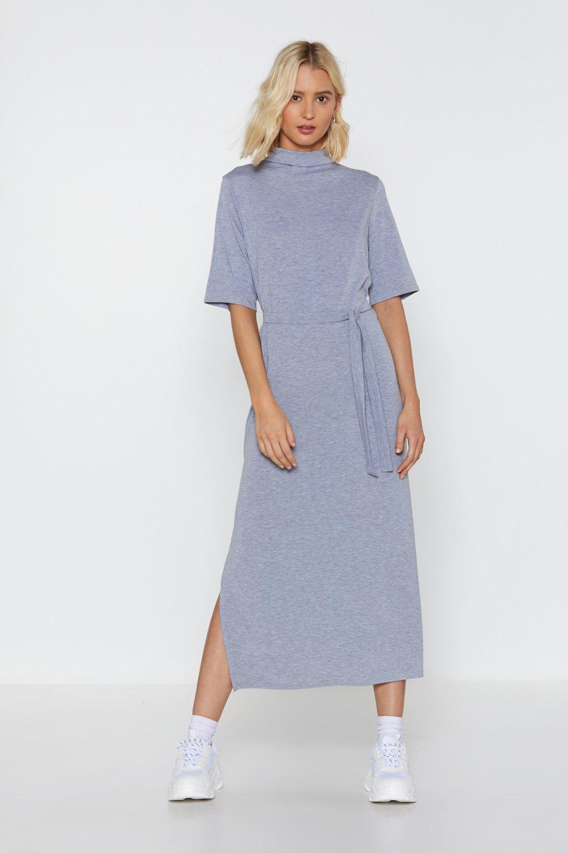 298b80e7be1 Robe mi-longue avec ceinture Longue Vie Au Style