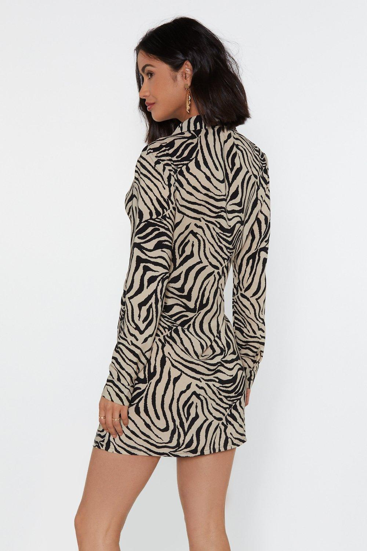 fe7cc64314c1 Don't Get It Twisted Zebra Shirt Dress | Shop Clothes at Nasty Gal!