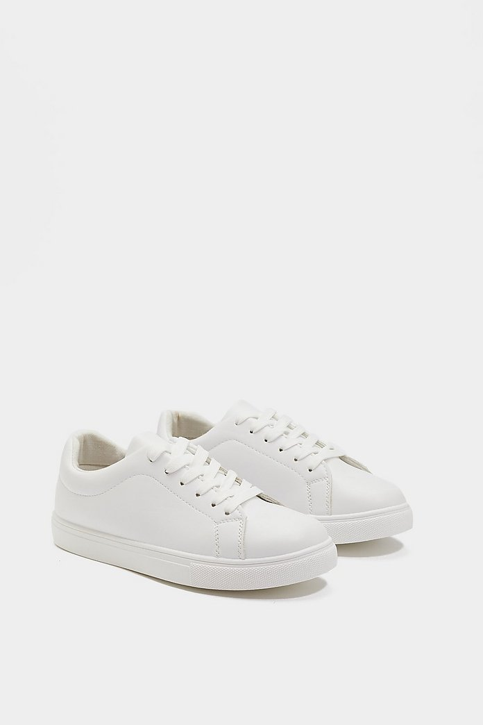 Basic Happen Faux Leather Lace Up Sneakers | Shop Clothes at Nasty Gal!
