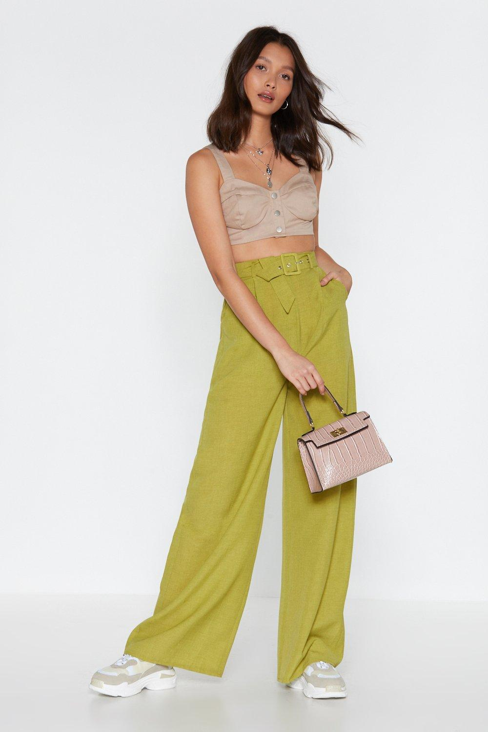 bd8905227adc Wide Again Belted Pants. Hover to zoom