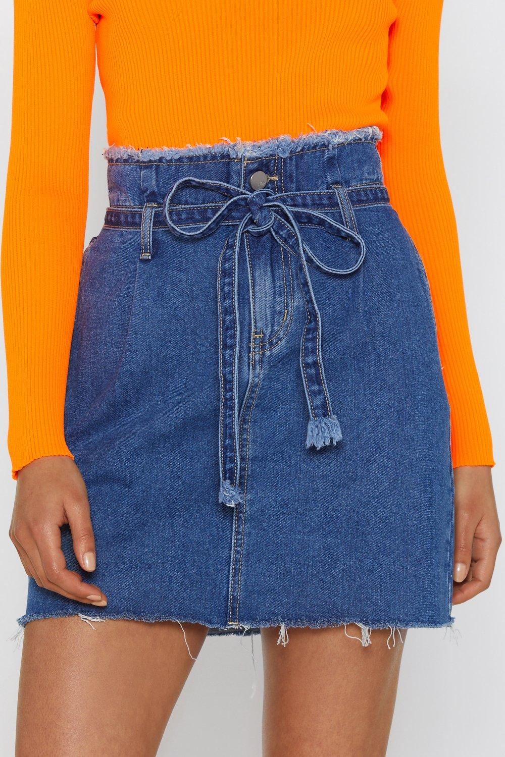 a9a30c8797 Waist of Space Paperbag Denim Skirt | Shop Clothes at Nasty Gal!